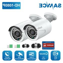SANNCE 2x 1080P POE Security IP Camera IR Night Vision Outdo