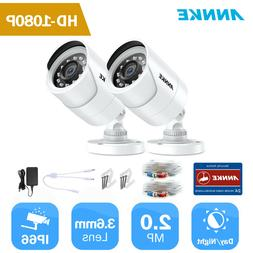 ANNKE 2pcs HD 1080P 2MP Home Surveillance Security Camera Sy