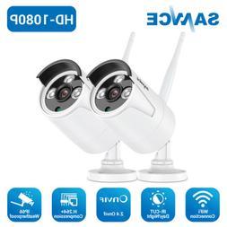 SANNCE 2x Wireless 1080P HD Video 2MP Security Camera IP Net