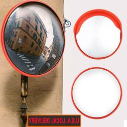 30/45cm Outdoor Road Traffic Convex Mirror Wide Angle Drivew