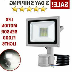 30W Outdoor Motion Sensor Flood Light Waterproof LED Lights