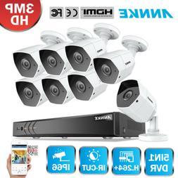 ANNKE 3MP H.264+ Smart Security Camera System 8CH DVR CCTV I