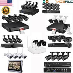 4/8CH 1080P WIFI NVR DVR Outdoor CCTV Video Recorder Camera