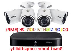 Lorex 4 Camera 2K 1TB Smart Security System Color NIGHTVISIO