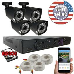 Sikker 4 ch channel DVR 1080P Home security camera system HD