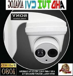 4 in 1 1080P 4MP SONY IR DOME CCTV Security Camera WITH WALL