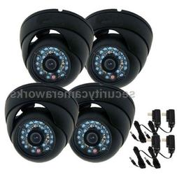 4 Outdoor 600TVL Sony CCD Wide Angle Home Surveillance CCTV