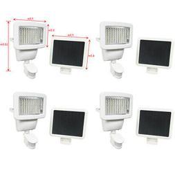4 PACK 100 SMD LEDs White Solar Powered Motion Sensor Securi