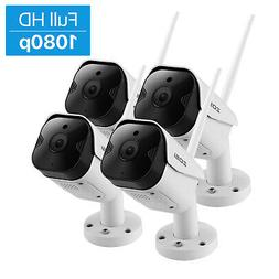 ZOSI 4 Pack 1080p Wireless Security IP Camera System HD 2MP