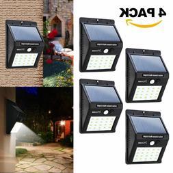 4 Pack 20 LED Outdoor Solar Sensor Wall Light Motion Night S