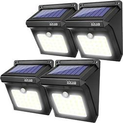 4 Pack Security Solar LED Outdoor Lights Wireless Waterproof