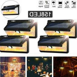4 Pack-Solar 158 LED Lights Outdoor PIR Motion Sensor Garden