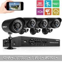 Floureon 4CH 1080N 1080P CCTV AHD DVR Kit Outdoor 1500TVL Ca