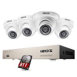 ZOSI H.265 Home Security Camera System 1080p with Hard Drive