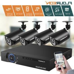 FLOUREON 4CH 1080P DVR CCTV Security IP Camera System Set Ou