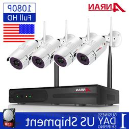1080P Security Camera System Outdoor Wireless 8CH NVR with 1