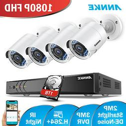ANNKE 4CH 3MP DVR 4pcs 1080P Outdoor Security Camera System