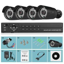 4CH Camera Surveillance Security, 1080N + 4 Pack 1080P HD CC