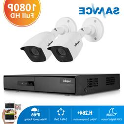 SANNCE 1080P HDMI 4CH DVR Outdoor 2MP CCTV Security Camera S