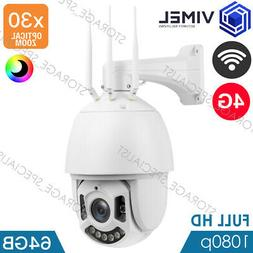 4G Outdoor Flood Light 64GB Home Security 3G PTZ Camera WIFI