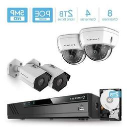 Amcrest 4K 8-Channel 2TB HDD NVR Security Camera System with