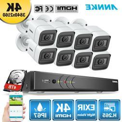ANNKE 4K 8CH DVR Full 5MP 8MP CCTV Security Camera System IR