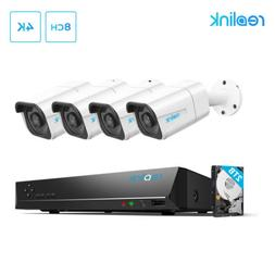 Reolink 4K HD Security Camera System 8CH PoE NVR 4x8MP PoE C