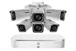 Lorex 4K IP Camera System with 6 UHD 4K Metal Cameras, 130ft