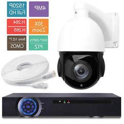 """4K NVR 4MP NVR 30X OPTICAL ZOOM 4"""" Size 4MP IP PTZ Dome Came"""