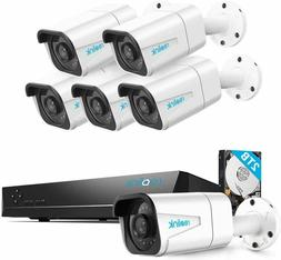 Reolink 4K PoE Home Security Camera System, 8 Channel NVR Re