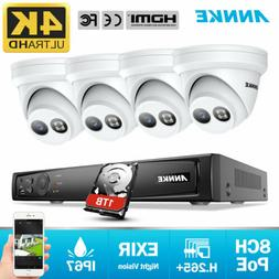 4k poe outdoor security camera system 8mp