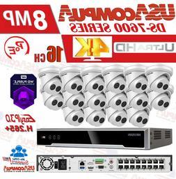 HIKVISION 4K SECURITY SYSTEM KIT 4K-UHD NVR 16CH POE 8MP CAM