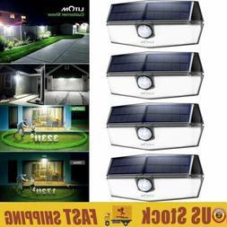 4Pack LITOM 120 LED Solar Lights Outdoor Motion Light Waterp