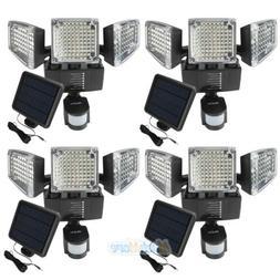 4Packs 188LED Security Detector Solar Light Motion Sensor Ou