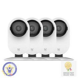 YI 4pc Home Camera, 1080p Wi-Fi IP Security Surveillance Sma