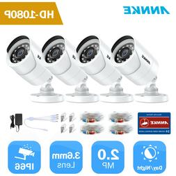 ANNKE 4pcs 1080P 2MP HD Home Surveillance Security Camera Sy