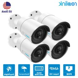 4pcs POE Add-On Camera 4MP 1440P for Reolink Security camera