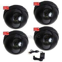 4x Dome Security Camera w/ SONY Color CCD Wide Angle Home Su