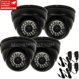 4x Security Camera with SONY CCD Effio Outdoor IR Night Visi