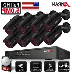 ANRAN 5.0MP HD POE Security Camera System Outdoor 8CH POE NV