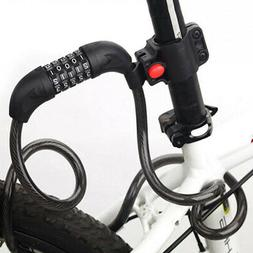5 Digit Combination Cable Lock for Bicycle, Scooter, Grills