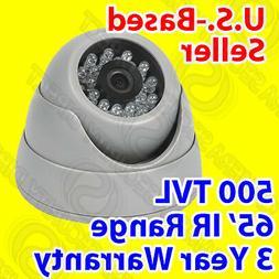 500TVL Sony IR Dome Security Camera - 65' Night Vision Range