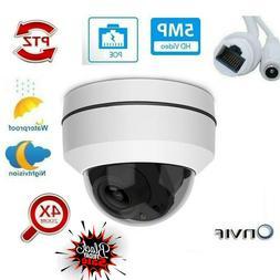 5MP Full HD PTZ IP Camera Outdoor 4X Optical Zoom Mini Speed