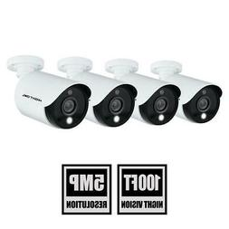 5mp hd wired security cameras with built-in spotlight  | nig