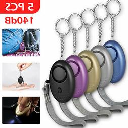 5x Safesound Personal Alarm Women Keychain 140db Safety Secu