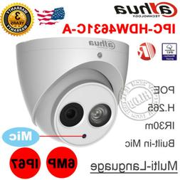 Dahua 6MP POE Built-in Mic IPC-HDW4631C-A Metal Dome Securit