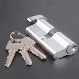 70mm Sliding Security Screen Home Door Lock Cylinder Thumb T