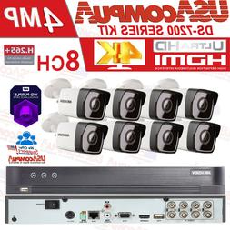 Hikvision Security System 8-Channel 8CH 4MP Weather Proof  w