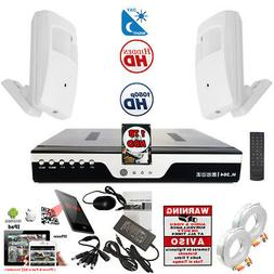 8 Ch h264 HD Security DVR 2x Hidden Spy Night Vision Cameras