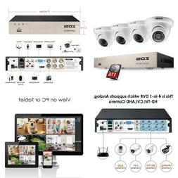 8-Channel 1080p 1TB Hard Drive DVR Security Camera System wi